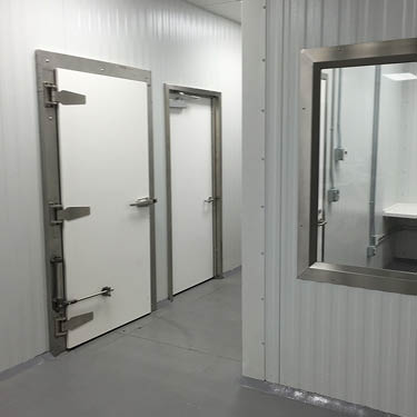 Conventional cooler/freezer doors